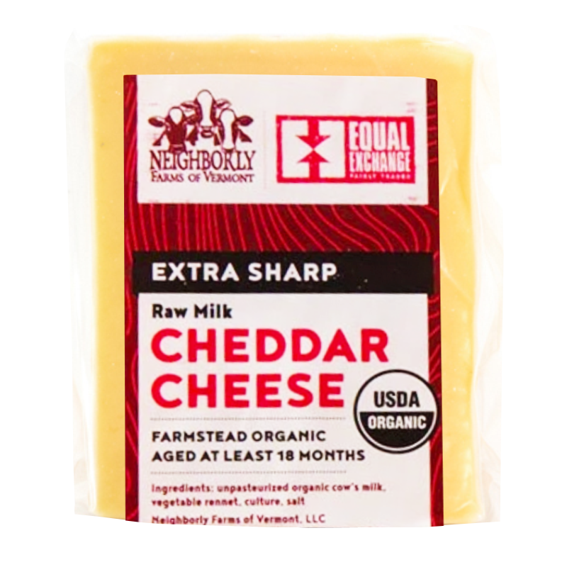 equal exchange organic extra sharp cheddar cheese  st